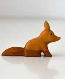 Predan wooden fox (sitting)
