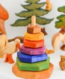 Predan wooden stacking tower and toys