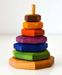 Predan wooden stacking tower (colourful)