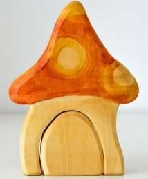 Predan wooden toadstool house