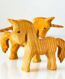 Predan wooden unicorns (standing)
