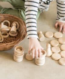 Grapat Natural Wooden Nins®, Rings & Coins