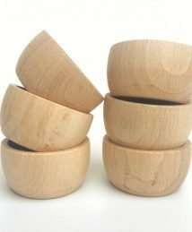 6 Grapat Natural Wooden Bowls