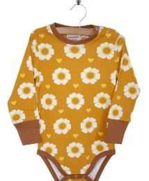 Long-Sleeve Bodysuit 70s Flower