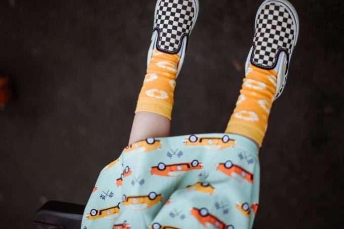 Long-sleeve Twirly Dress 70s Dream & 70s Flower Socks