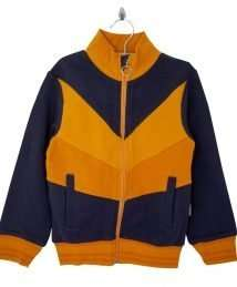 Retro Zip Jacket Navy/Yellow/Orange