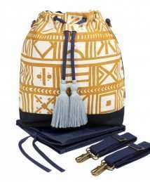 Bucket nappy bag (golden sand)