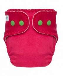 Puppi Pocket Fitted Nappy (Newborn Pink Blush Snaps)