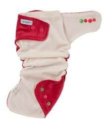 Puppi Pocket Fitted Nappy (One Size Pink Blush Snaps)