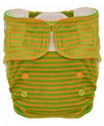 Puppi Pocket Fitted Nappy (One Size Playground Velcro)