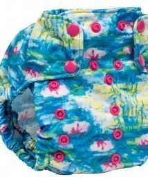 Smart Bottoms Too Smart Nappy Cover (Water Lillies)