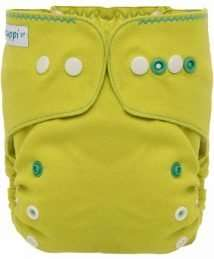 Puppi Merino Wool Cover (One Size Plus Lime & Thyme - Snaps)