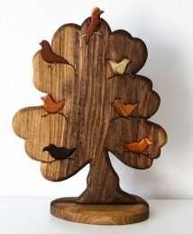 Predan Wooden Tree with Birds