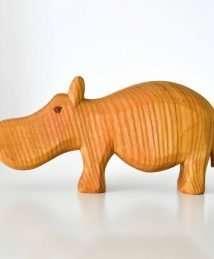 Predan wooden hippo