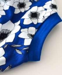 KrokoBaby Organic Bloomers (Cobalt Flowers)