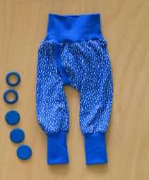 KrokoBaby Split Pants (Cobalt Stripes)