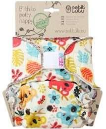 Petit Lulu Fitted Nappy Fluffy Organic (One Size) - Velcro, Frisky Koalas
