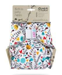 Petit Lulu Fitted Nappy (Maxi) - Velcro, Wildflowers