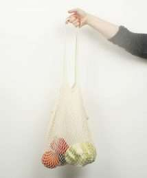 A Slice of Green Organic Cotton Long-Handled Shopping Bag