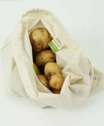 A Slice of Green Organic Cotton Produce Bag - Large (34 x 38cm)