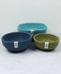 ReSpiin Jute Bowl Set (Mini - Ocean)