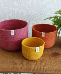 ReSpiin Jute Bowl Set (Tall - Fire)