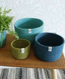 ReSpiin Jute Bowl Set (Tall - Ocean)