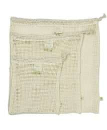 A Slice of Green Organic Mesh Cotton Produce Bags - Variety Pack (Set of 3)