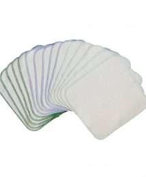 Avo&Cado Organic Cotton Reusable Wipes - Flannel (Green)