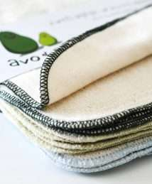 Avo&Cado Organic Cotton Reusable Wipes - Flannel & Terry Cloth (Green)