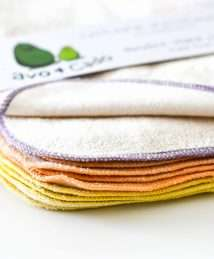 Avo&Cado Organic Cotton Reusable Wipes - Flannel & Terry Cloth (Lilac)