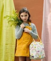 Fluf Zipper Lunch Bag (Rainbows)
