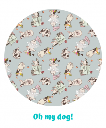 Little Birds Oh My Dog print