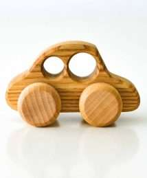 Wooden Frog Beetle Car