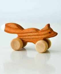 Wooden Frog Push-Along Fox (Small)