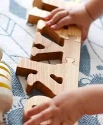 Wooden Frog Puzzle Letters