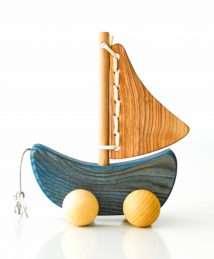 Wooden Frog Sailing Boat