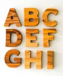 Wooden Frog Standing Letters (A-I)