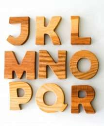 Wooden Frog Standing Letters (J-R)