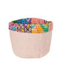 Gepa basket Jute Sari upcycling - M