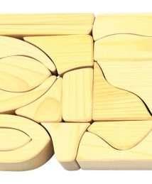 Glückskäfer Large Wooden Building Blocks (Natural - 17 Pieces)