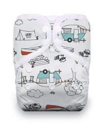 Thirsties Natural One Size Pocket Snap Happy Camper