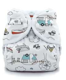 Thirsties Duo Wrap Cover (Snaps - Happy Camper)