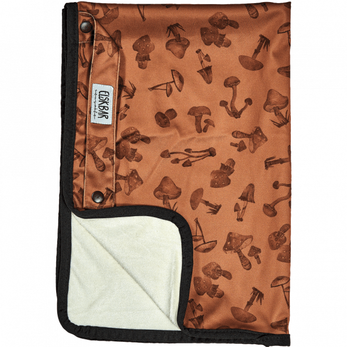 Elksbar Changing Mat folded - Mushrooms (brown)