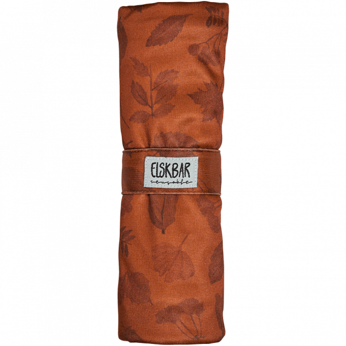 Elksbar Changing Mat rolled - Leaves (red)
