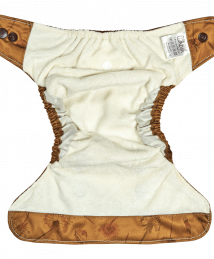 Elskbar Natural AiO Newborn Cloth Diaper - dandelions (yellow) inside