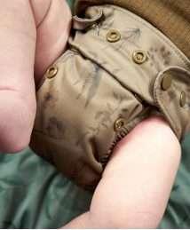 Elskbar Natural AiO Newborn Cloth Diaper - wildflower (sand)
