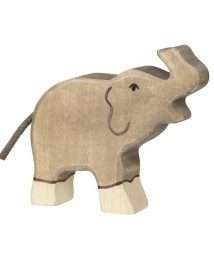 Holztiger Elephant (Small, trunk raised)