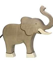Holztiger Elephant (Trunk raised)