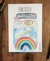 Sarah Settgast postcard - Glück für dich (front)